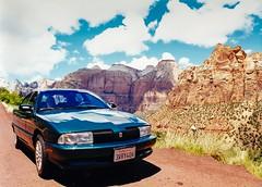 Oldsmobile Achieva In Zion (Stephen Reed) Tags: oldsmobileachieva usa america zion car travel scannedimage lightroomcc