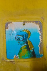 Sub-Urban Vermeer's Girl (MTosches) Tags: blub vermeer graffiti street acqua pittura