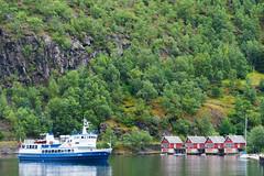 Flm (SLpixeLS) Tags: norway norvge landscape paysage boat bteau mountain montagne house maison red rouge flm fjord