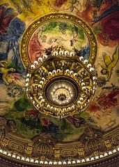 Beware the Phantom of the Opera! (France through my eyes) (docoverachiever) Tags: france light building paris ceiling mural opera ornate gilded chandelier marcchagall opragarnier palaisgarnier thephantomoftheopera 6ws