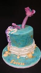 Mermaid Cake (dragosisters) Tags: sea purple pink gold sand ocean cake mermaid