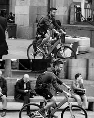 [La Mia Citt][Pedala] (Urca) Tags: 8916 milano italia 2016 bicicletta pedalare ciclicsta ritrattostradale portrait bike bicyclenikondigitale mir biancoenero bn bw blackandwhite