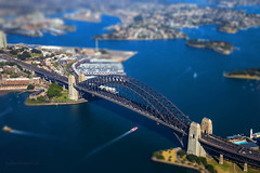 Sydney Harbour flyover (jochen.hess) Tags: sydney australia jochen hess harbour bridge tilt shift simple water sea city oceania
