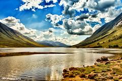 Loch Etive (HDR) (MV.photography.) Tags: scotland schottland hdr glencoe mountain berg wolken clouds wolkig cloudy alba uk highlands vereinigesknigreich glenetive unitedkindom lochetive etive riveretive wasser water river