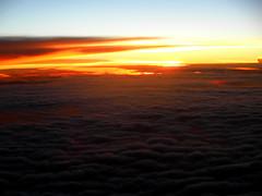 Sunset ca. 11000 m Altitude (betadecay2000) Tags: sunset sun clouds wolken wolke flug flugzeug boeing 11000 hhe stratosphre outdoor kste ufer landschaft sonnenuntergang ozean himmel wasser