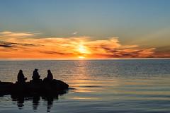 20160614-DSC_8979 (the Mack4) Tags: 2016 june water lakeontario sunset cloud reflection silhouette rocks orange blue webster websterpark newyork niksoftware clouds