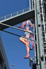 On Freemont Street (dr_marvel) Tags: vegas lasvegas nevada freemont neon sign women showgirl shop casino gambling