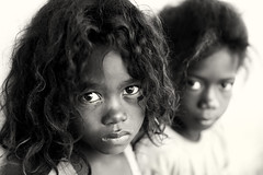 Madagascar, young girls (Dietmar Temps) Tags: africa afrika afrique madagascar tribes ethnic ethnology ethnie culture tradition traditional ritual people face children girls outdoor morondava vezo sakalava eyes naturallight beautifulgirl anakao saintaugustin sarodrano 50mm monochrome blackandwhite