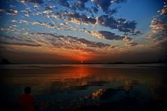 The Dawn (Sanjiban2011) Tags: doha qatar corniche nature horizon sunrise sun dawn morning earlymorning waterfront waterscape landscape reflection clouds cloudscape skyscape sky bluehour goldenhour outdoor sunrays sunlight alone nikon d750 fullframe fx nikon24120 colours