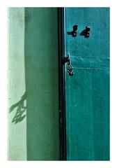 dtail, rue Crmieux Paris (Marie Hacene (trs occupe, fait des licences de) Tags: paris volet ombre vert porte bois crmieux