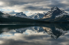 Moody Bow Lake (NettyA) Tags: 2014 alberta canada canadianrockies northamerica sonynex6 mountains travel bowlake reflection clouds banffnationalpark