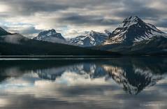 Moody Bow Lake (NettyA) Tags: 2014 alberta canada canadianrockies northamerica sonynex6 mountains travel bowlake reflection clouds banffnationalpark