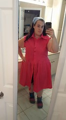 Pink Shirt Dress (IGetPointsForTrying) Tags: sewing mccalls shirt dress