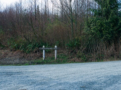 Good signage from Barrell Springs road. Oyster Dome via Blanchard, 3/29/13, Bellingham WA