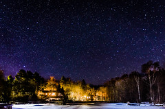 Moms place [Explore] (Jens Sderblom) Tags: longexposure trees winter sky house snow ice water night forest stars vinter nikon nightscape sweden skandinavien sverige scandinavia archipelago skrgrden roslagen d7000 swedensing