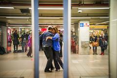 Tango in Metro l (Alessandro Vecchi) Tags: brussels music underground dance belgium belgique metro tube bruxelles tango musica unusual metropolitana ballo belgio insolito