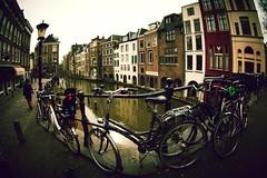 Walking for Utrecht... (A_Romy (romyclick.com)) Tags: man cold vendedor utrecht bikes holanda seller frio hombre fiets canales bicis paisesbajos thenetherland eyefishnederlands