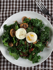 kale & chard breakfast salad