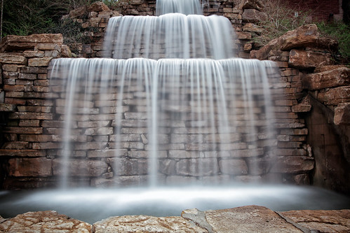 Waterfall at Bruce R. Watkins Cultural Center