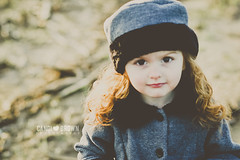 Coco (CandiBrown) Tags: winter red brown cold girl beautiful field hat grey gray 85mm jacket coco russian peacoat candi berret candibrown candibrownphotography redheadmhair