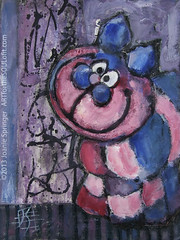 Sillyness (Joanie Springer) Tags: ink expressive gouache loose opaquewatercolor joaniespringer artforthesoulofit