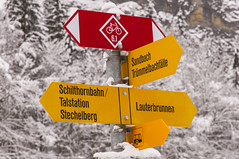 Which way? (webeagle12) Tags: mountain snow mountains alps switzerland europe swiss valley lauterbrunnen berne eiger bernese jungfrau monch berneseoberland oberland susse nikond90 1685mm