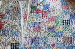 well worn patchwork (the little red hen -) Tags: soft quilt antique worn generations patchwork loved favoritethings passeddown