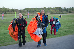"""Boogie Bonanza 2013, Sean and Jake happily smile after a sunset swoop & chug (divemasterking2000) Tags: party sky skydiving flying spring al jump jumping alabama dive diving celebration gathering western april boogie theme skydive canopy themed dropzone parachuting apr sda parachute dz bonanza canopies skyjump gather parachutes skyflying """"western skyfly 2013 skyjumping theme"""" """"boogie alabama"""" """"skydive bonanza"""" themed"""""""