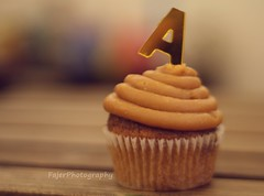 A (Fajer Alajmi) Tags: wood caramel cupcake letter