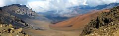 Haleakala Volcano, Maui, Hawaii. (pedro lastra) Tags: mountains hot clouds fuji rocky sunny valley majestic barren arid panaramic sweeping xe1