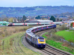At The Junction. (curly42) Tags: travel transport railway junction voyager express signal 125 hst class43 fgw class220 43031 axc