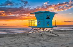 West Coast Sunset (mojo2u) Tags: ocean california sunset beach sandiego coronado lifeguardstand nikon2470mm nikond800
