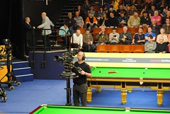 All eyes on the Crucible crowd (and Judd Trump's brother) (zawtowers) Tags: world sport 50mm championship tv theatre brother sheffield tournament bbc april fans trump img snooker spotting supporters cameraman fifty judd nifty crucible betfair 2013 thehomeofsnooker afsnikkor50mmf18g juddernaut