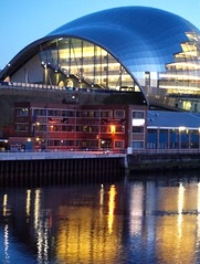 'The Sage', H.M.S. Calliope and Tyne River Reflections (Gilli8888) Tags: windows glass architecture buildings reflections river newcastle curves sage gateshead quayside concerthall rivertyne thesage rnr royalnavy hmscalliope shorebase