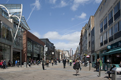 Briggate in Leeds (mark_fr) Tags: street city andy st court shopping scott airport corn gate dragon bradford market yorkshire centre leeds bank pauls trinity penny bond klm minerva exchange boules brig infirmary briggate revival