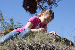 Camille recording her observations (arbusch) Tags: youth wren 2013 wallowaresources