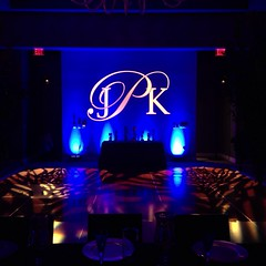 Blue Lighting - Monogram Projection - Pattern Projection - W Hotel Austin