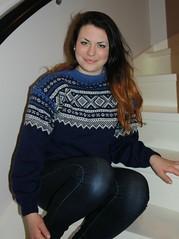 Lady in wool Marius Jumper (Mytwist) Tags: girls classic wool norway vintage norge sweater craft norwegian jumper knitted marius pullover crewneck genser handknitted sweatergirls