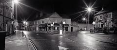 Bakewell - Bridge Street from the Bridge (Regular Rod) Tags: street blackandwhite panorama 120 film monochrome night holga shadows derbyshire peakdistrict ilfordhp5 bakewell array 6x12 holgaheads ysplix pyrocatechol catechol obsidianaqua holgagon schneiderkreuznachangulon90mm filmdev:recipe=8946