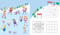 Snowy Fun (Lauren Mari Ellis) Tags: christmas girls cute bunny lauren ice illustration mouse penguin book snowman ellis character moose puzzle mice fox badger childrens illustrator activity childrensbook publishing usborne laurenellis laurenade