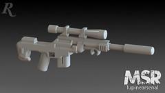 MSR_Concept_Remastered (thebrickbear) Tags: lego battlefield callofduty mw3 moderncombat legogun lupinearsenal modularsniperrifle legomsr