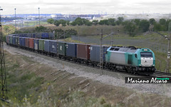 335.017 Continental Rail 18.5.2013 (Mariano Alvaro) Tags: train tren continental rail bilbao 017 teco vallecas 335 vossloh negrilla