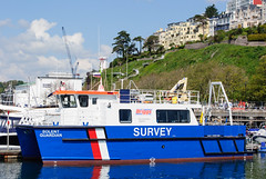 Solent Guardian (Maskedmarble) Tags: ship harbour devon solent torquay survey guardian