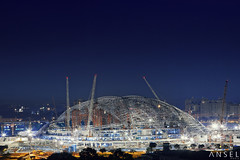 Singapore Sports Hub (draken413o) Tags: architecture night digital photography construction singapore stadium national blending kallang