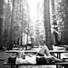 Patricia Contreras takes a breather upon arrival @ Hodgdon Meadows, Yosemite