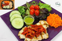 Grilled Chicken w/Sun-dried Tomato Platter (Chefs_Diet) Tags: food chicken tomato salad cucumber gourmet foodies foodporn delivery carrots diet weightloss weight salads foodie nutrition dieting foodphotography foodstyling chefsdiet containertoplate