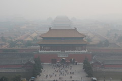 Forbidden City and Smog in Beijing (stephan.schaller) Tags: china smog haze beijing pollution forbiddencity peking dunst verbotenestadt
