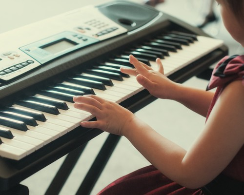 little hands at the keyboard