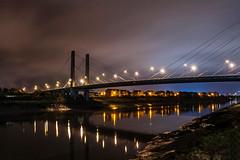 george street bridge, newport (andyp178) Tags: longexposure bridge night reflections lights newport bbc riverfront usk risingtide