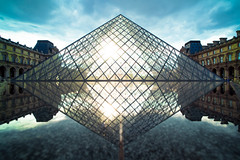 Origin of symmetric (Selphybrand) Tags: leica bridge sun paris water river louvre sony voigtlander m f11 15mm luvre refletion zm a7s